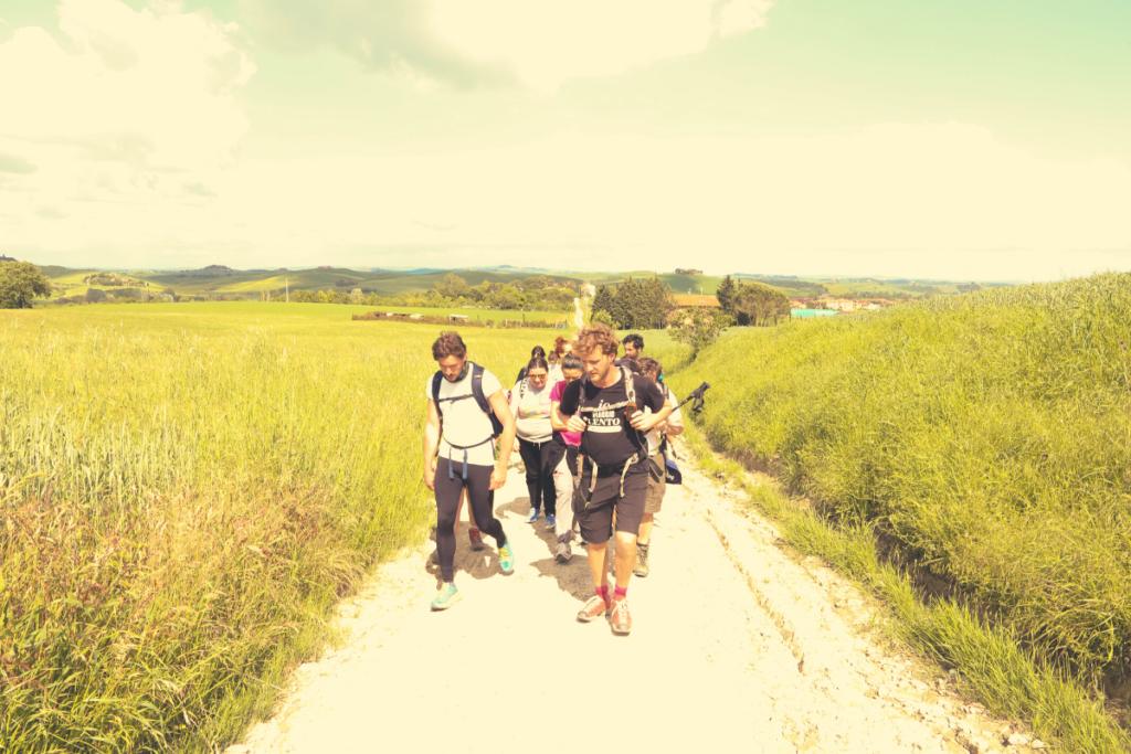 camminare in gruppo