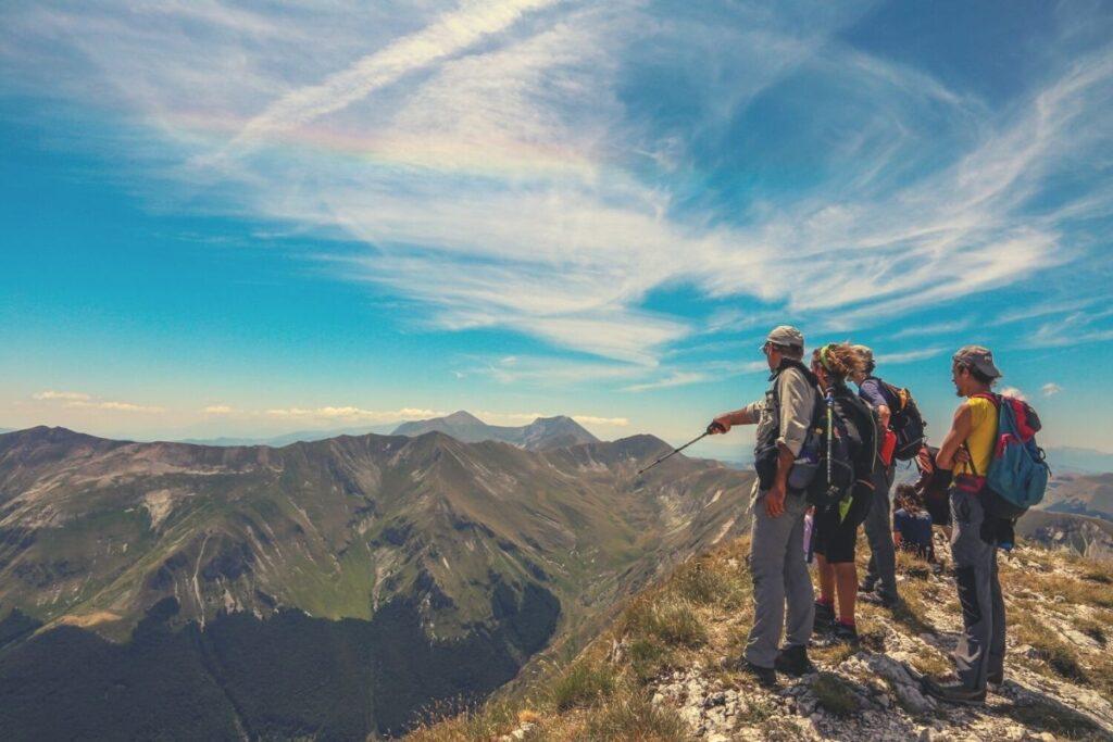 escursionisti Monti Sibillini