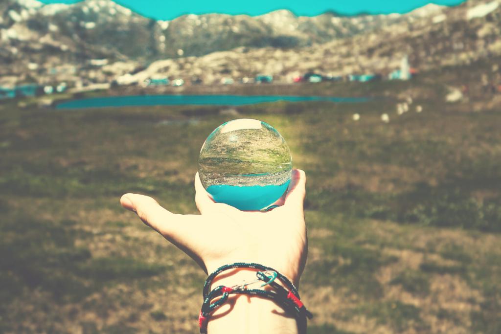 Palla di cristallo viaggiare